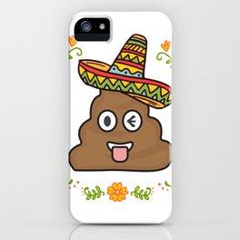 Emoji Poop Cinco De Mayo Funny iPhone Case