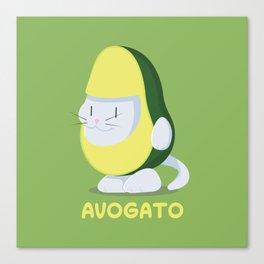 Delicious Avogato - Perfect For Cat & Avocado Lovers Canvas Print