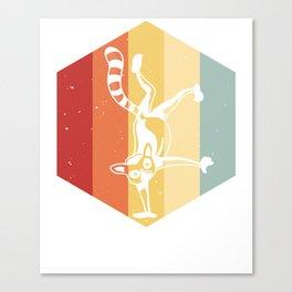 Lemur Monkeys Merry Christmas Canvas Print