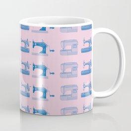 Vintage Sewing Thread Machine Needle Pattern Coffee Mug