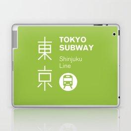 Tokyo Subway - Shinjuku Line Laptop & iPad Skin