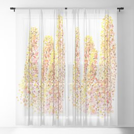 unicorn of the corals Sheer Curtain