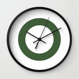 Minimalist Clock - Green Wall Clock