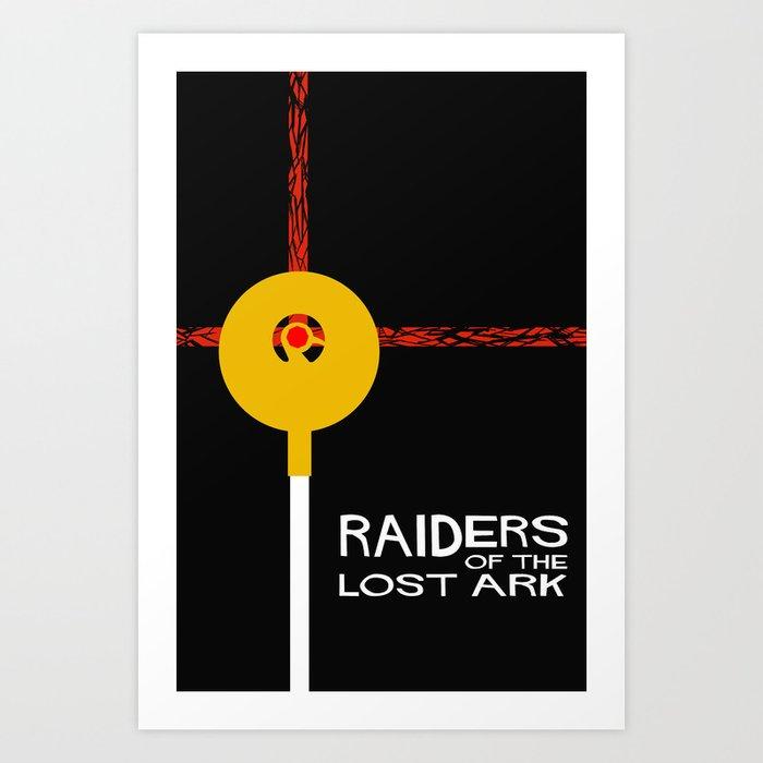 Raiders of the Lost Ark Minimal Movie Poster Art Print