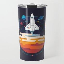 Space Shuttle & Solar System Travel Mug