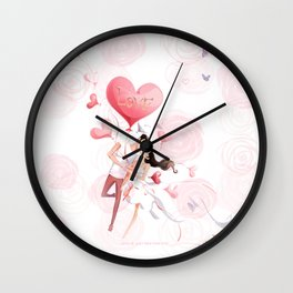 Love Pillow Wall Clock