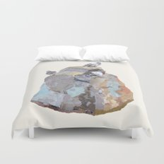 The Pigeon on a Rock Duvet Cover