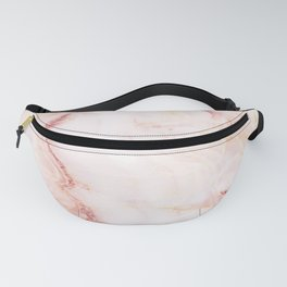 Pink Marble Abstract Fanny Pack