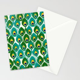 Abstract Peacock Pattern Stationery Cards
