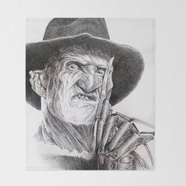 Freddy krueger nightmare on elm street Throw Blanket