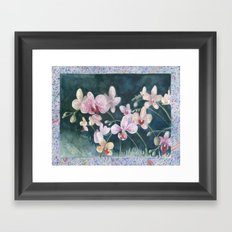 Orchid Melody Framed Art Print