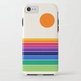Coolie - retro 70s style throwback sunset sunrise socal cali beach vibes iPhone Case