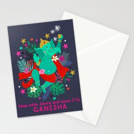 Dancing Ganesha Stationery Cards