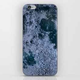 Large Night Sky Moon Print, by Christy Nyboer iPhone Skin