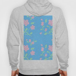 Pink Flower Backgroud Hoody