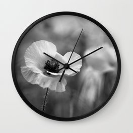Resplendent In Mono Wall Clock