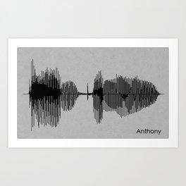 Anthony Name Art Print