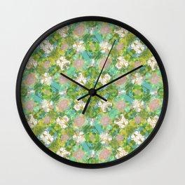 Vintage Floral Print Pattern Wall Clock