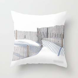 Winter Beach 2015 Throw Pillow