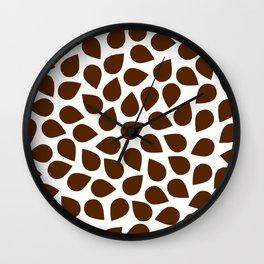 Brown Petal Pattern Wall Clock