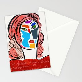 Poetic Pop Art Portrait Stationery Cards