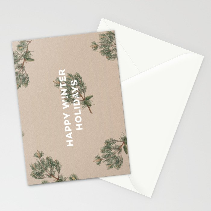 Happy Winter Holidays Stationery Cards