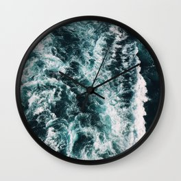 Green Seas, Yes Please Wall Clock