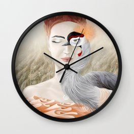 Bird Crane Wall Clock