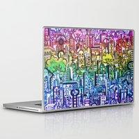 hong kong Laptop & iPad Skins featuring Hong kong by 2tehmax