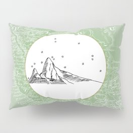 Machu Picchu, Peru, South America - Seven New Wonders Skyline Illustration Drawing Pillow Sham