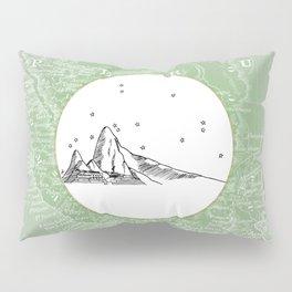Machu Picchu, Peru, South America - Seven New Wonders Skyline Illustration Drawing Pillow Sham