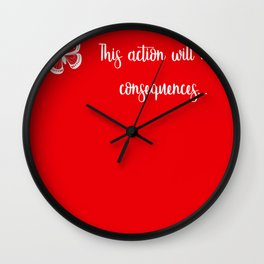 Life is strange action has consequences Wall Clock