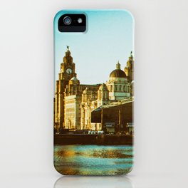Albert Dock and Three Graces iPhone Case