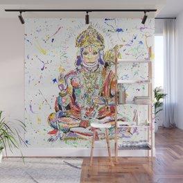 Hanuman Hindu God in the form of a monkey Wall Mural
