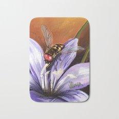 Fly on flower 10 Bath Mat