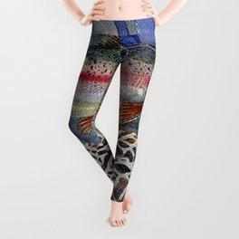 Tumbling Trout Logo - Rainbow Leggings