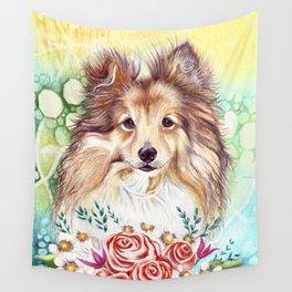 Sweet Sheltie Wall Tapestry