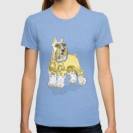 Schnauzer Yellow T-shirt