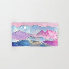 Abstract Mountain Landscape  Digital Art Hand & Bath Towel