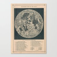 the moon Canvas Prints featuring Moon  by Le petit Archiviste