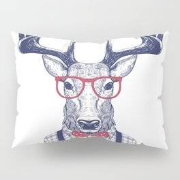 MR DEER WITH GLASSES Pillow Sham