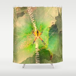 Orb Spider Shower Curtain