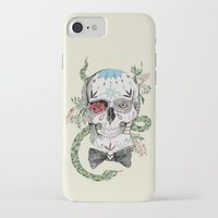 calavera iPhone & iPod Cases featuring Calavera by Barbara Azul