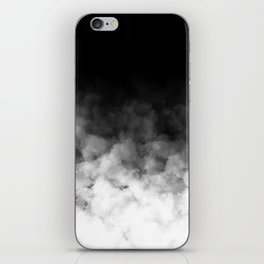 Ombre Black White Clouds Minimal iPhone Skin
