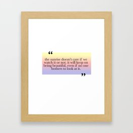 Being Beautiful Framed Art Print