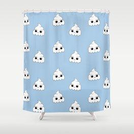 ghost poopies Shower Curtain