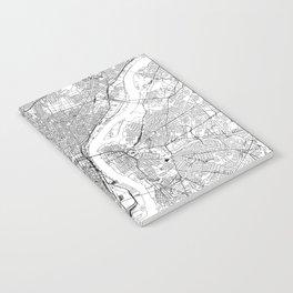 Philadelphia White Map Notebook