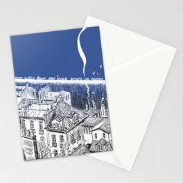 On this side of the wall Stationery Cards