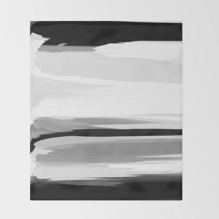 Soft Determination Black & White Throw Blanket