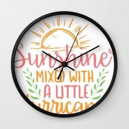 sunshine mixed with a little hurricane Adventure Wall Clock